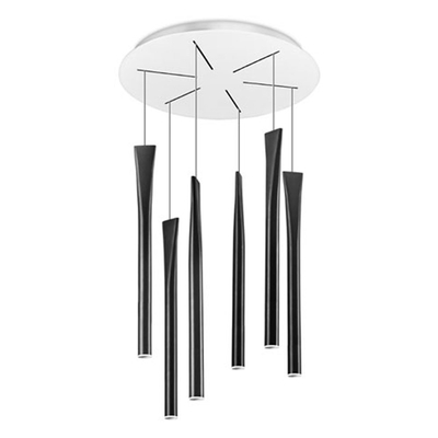 Rocket 6 Light Black LED Pendant
